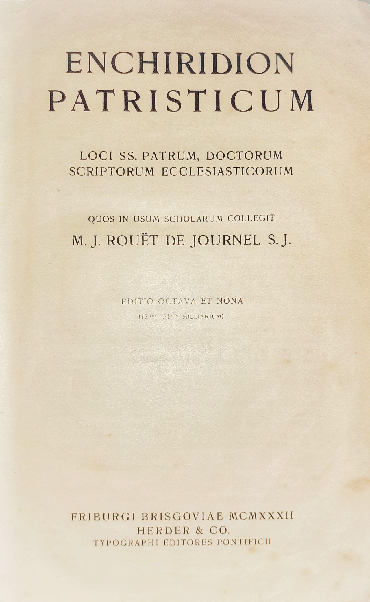 Enchiridion patristicum. Perioada Triodului (I)